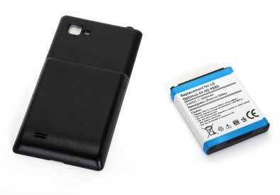 Cell Phone Battery for LG Optimus4X HD P880 with Black Shell Cover