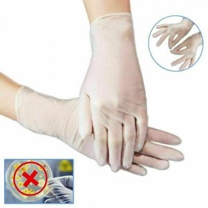 100X Disposable Gloves Powder Free Latex Free Vinyl Tattoo Food Mechanic SIZE L
