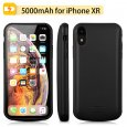 5000mah iPhone XR Battery Case Magnetic Power Bank Charger Back Cover-Black