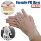 100X Disposable Gloves Powder Free Latex Free Vinyl Tattoo Food Mechanic SIZE M