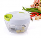 Mbuynow Kitchen Mini Chopper Food Pull Processor with Peeler- for Vegetable, Fruit, Garlic, Herb, Onion, Pull Slicer Cutter Blender Tool