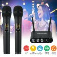 UHF Professional 10 Channel Wireless 2 Handheld Microphone Mic System Bluetooth
