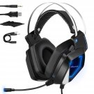 Gaming Headset with Mic for Xbox One, PC, PS4, Mbuynow Over-Ear Stereo Gaming Headphones with Noise Cancelling Mic, Surround Sound, Volume Control, LED Lights for Laptop Mac Nintendo Switch Games