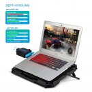 Laptop Cooling Pad 17.3 Inch Gaming, Mbuynow 2 in 1 Mini Vacuum USB Air Cooling Fan, Dual Combination with Intelligent Temperature-Control, Silencer, 8 Level Adjustable Height Stand and Phone Holder