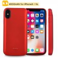 4000mah iPhone X/ XS Red Battery Case Magnetic Power Bank Charger Back Cover