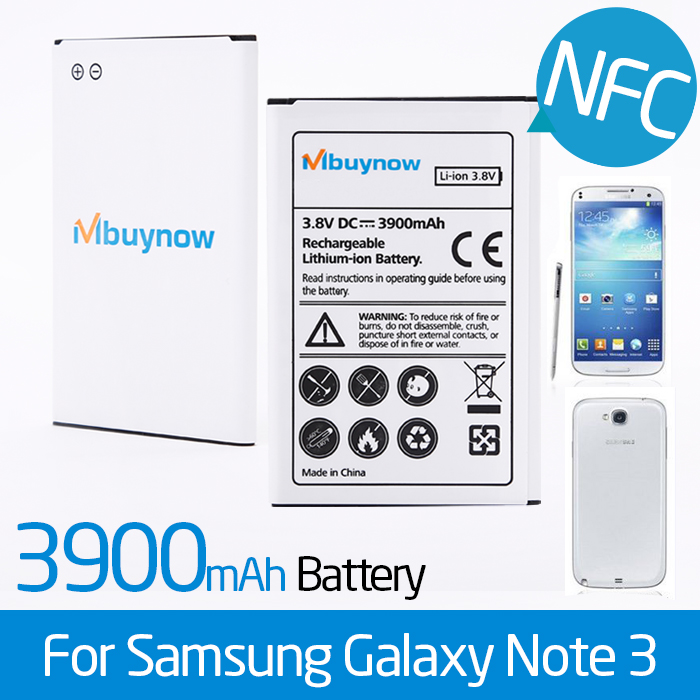 3900mAh battery for  Samsung Galaxy Note 3