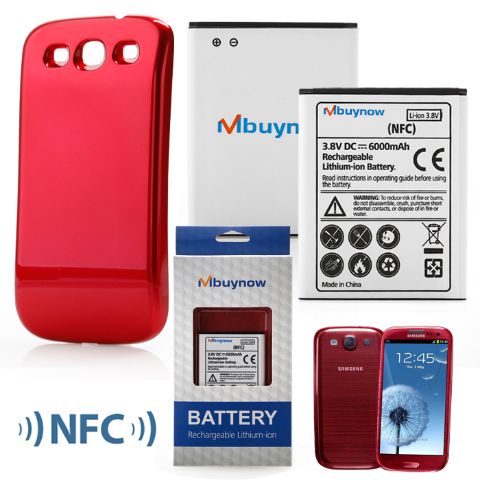 cellphone battery for Sumsung Galaxy with red back cover