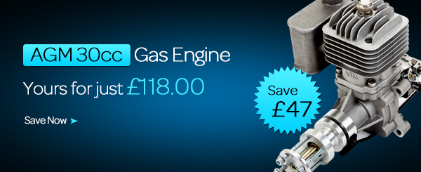Save £10 on purchasing AGM-30 gas engine
