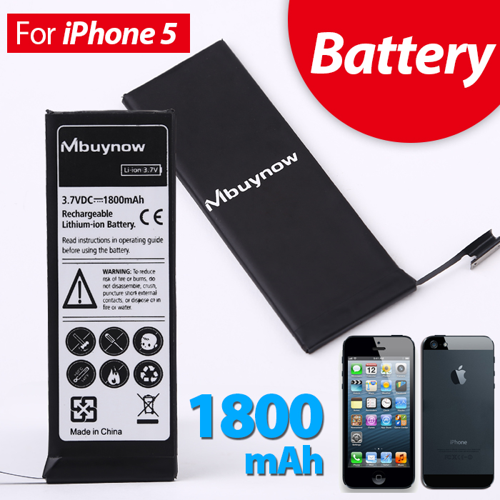 1800mAh Rechargeable Lithium-ion Battery for iphone 5