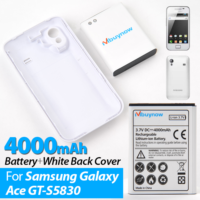 Battery with White Back Cover