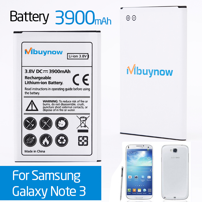 Rechargeable 3900mAh Battery for Samsung Galaxy Note 3 III N9000 N9005