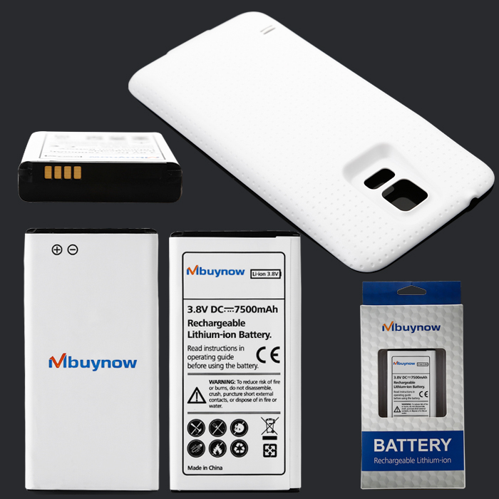 Galaxy S5(Battery + white Back Cover)