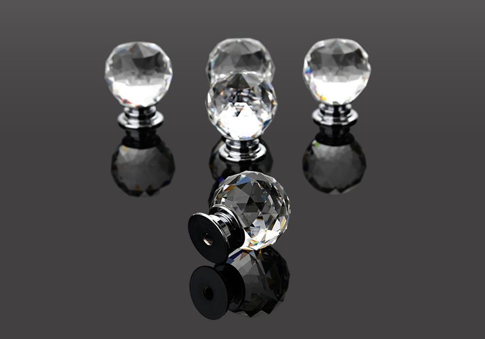 5er set kristal glas m belknopf m belkn pfe m belgriff schubladen knauf knopf ebay. Black Bedroom Furniture Sets. Home Design Ideas