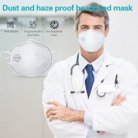 5Pcs KN95 Mask Protective Facemask 95% Filtration Anti-fog Disposable Breathable Face Masks Features as FFP2 Masks