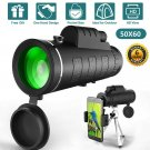50X60 Zoom HD Lens BaK4 Monocular Telescope Day/Night Vision+Phone Clip+Tripod