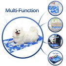 GoPetee Comfortable Cooling Mat for Dogs Washable Cooling Mat Ice Silk Pet Self Cooling Pad Blanket Cooling Pad Non-Toxic Gel Summer Sleeping Bed (XL-31.8 X 37.8 in)