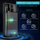 Battery Case 5000mAh for iPhone X XS, 2 in 1 External Battery Case, Wireless Charger with Magnetic Protective Case and Digital LCD Display