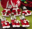 Mbuynow Set of 6 Santa suit Christmas cutlery holder pockets