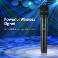 Professional UHF Wireless Handheld Microphone Karaoke Mic System LCD Display