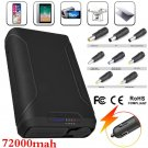 72000mAh Portable Charger Power Bank Fast Charging 2 USB Ports for Laptop Phones