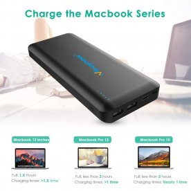 45W Power Bank 20000mah USB C, Mbuynow Laptop Battery Pack PD with Dual USB Ports Quick Charge Max. 3A/15V For iPhone X / XS / Max / XR / 10, Samsung Galaxy S9 / S8 and etc
