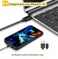 4000mah iPhone XS X Battery Case Magnetic Power Bank Charger Back Cover-Black