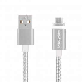 Mbuynow Micro USB Magnetic Adapter Charger Charging Cable for Samsung LG Android Smartphone Devices (Silver)