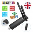 1200Mbps Wifi Adapter USB3.0 Wireless Network Dongle Dual Band 2.4/5GHz 802.11ac