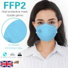 5Pcs Blue KN95 Mask Protective Facemask 95% Filtration Anti-fog Disposable Breathable Face Masks Features as FFP2 Masks