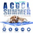 GoPetee Dog Cooling Mat Self-Cooling Pad Non-Toxic Gel Summer Sleeping Bed Comfort for Small Large Dogs Pets Cats Puppy Bed Sofa (L 19.68x35.43 in)
