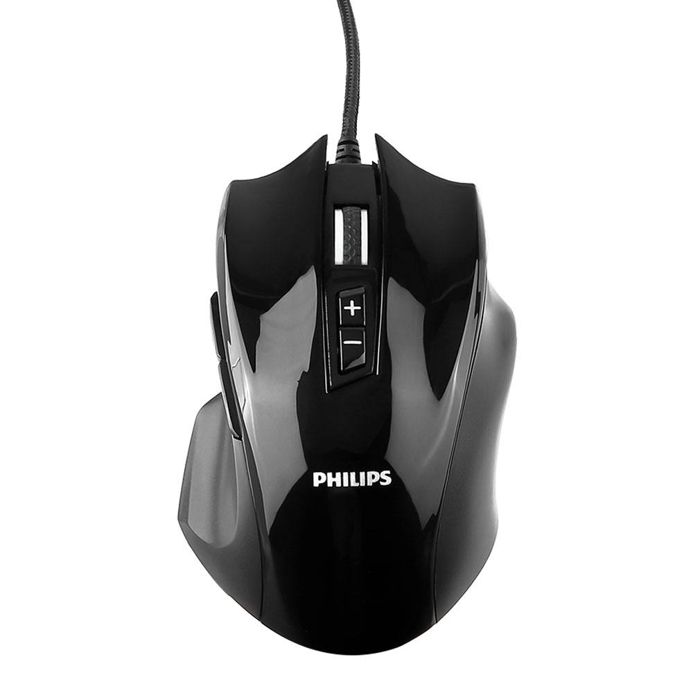 Gaming Mouse, Wired Mouse, Philips Optical Gaming Mice Laptop PC Computer Programmable Ergonomic Mouse with 8 Buttons, 4000 DPI for MS Windows 2000, ME, XP, VISTA and above, Linux, IOS, Black