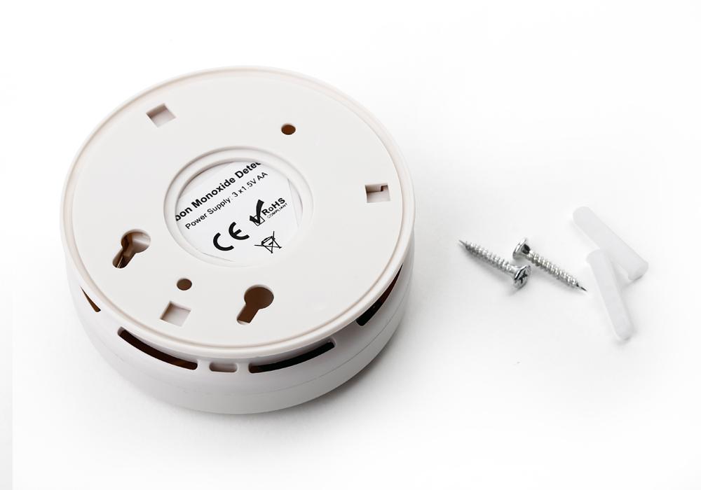 2x kohlenmonoxid melder rauchmelder gasmelder feuermelder co gas detektor warner ebay. Black Bedroom Furniture Sets. Home Design Ideas